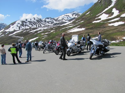 The Alaska Department of American Legion Riders enjoying Alaska's roads and scenery.
